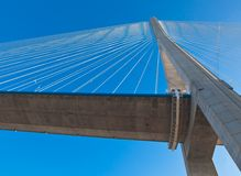 Normandy bridge view (Pont de Normandie, France) Royalty Free Stock Images