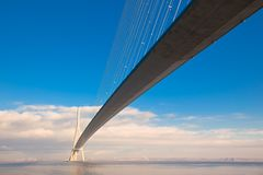 Normandy bridge view (Pont de Normandie, France) Stock Image
