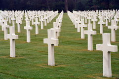 Normandy Cemetery Stock Photography