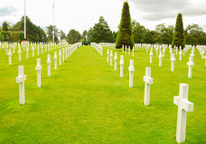 Normandy cemetery Royalty Free Stock Photography