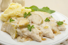 Normandy Chicken Stew Casserole Stock Images