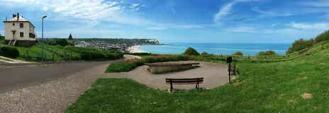 Normandy in France. Normandy city view from Camping side , France Royalty Free Stock Photos