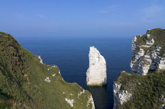 Normandy cliff Stock Photography