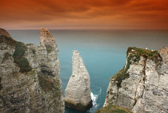 Normandy cliff Royalty Free Stock Photo