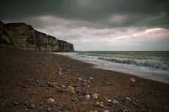 Normandy Cliff Coast Stock Photos
