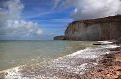 Normandy Cliff Coast Royalty Free Stock Photo