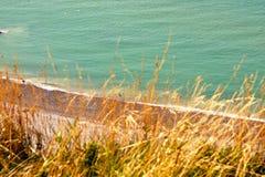 NORMANDY - cliffs Stock Photos