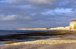 NORMANDY - cliffs Royalty Free Stock Images