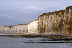 NORMANDY - cliffs Stock Images