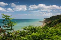 Normandy coastline near arromanches Royalty Free Stock Photography