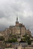 normandy för abbeyfrance michel mont saint Arkivfoton