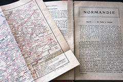 Normandy France guidebook and map Stock Images