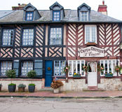 NORMANDY,FRANCE-JANUARY 8: Beuvron-en-Auge architecture on January 8,2013, France. Royalty Free Stock Image