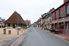 NORMANDY,FRANCE-JANUARY 8: Beuvron-en-Auge village on January 8,2013 in Normandy, France. Beuvron-en-Auge located in the Calvados department and one of the most Stock Images