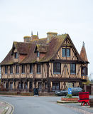 NORMANDY,FRANCE-JANUARY 8: Detail of Beuvron-en-Auge village on January 8,2013 in France. Royalty Free Stock Image
