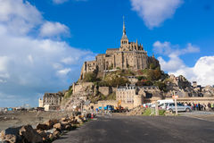 Normandy France November 1 2013 : Mont Saint Michele Stock Photography