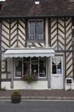 Traditional houses in medieval village of Beuvron en Auge in Normandy France royalty free stock images