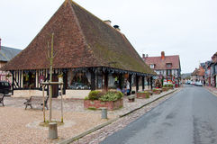 NORMANDY-JANUARY 8: Beuvron-en-Auge village on January 8,2013 in Normandy, France. Royalty Free Stock Photo