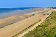 Normandy Landings, remains of artificial port Royalty Free Stock Images