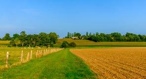 Normandy pługu pole obraz royalty free
