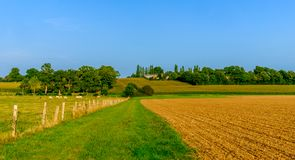 Normandy Plow Field royalty free stock image