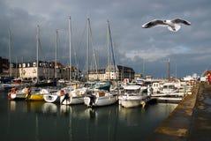 normandy port royaltyfria bilder