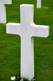 Normandy Unknown Soldier Grave Marker Stock Photo