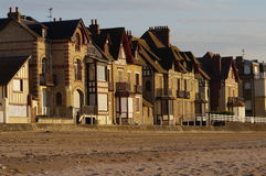 Normandy village in France: seaside resort Royalty Free Stock Photo