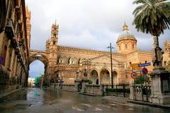 Normannische arabische Architektur der Palermo-Kathedrale Stockbilder