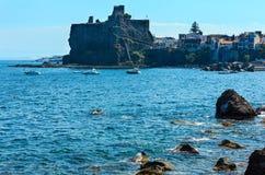 Normannische Schlossruinen, Sizilien Stockbilder