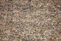 Normannischer mittelalterlicher Steinwandhintergrund Stockfotos