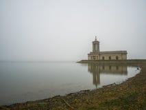Normanton Church in fog Stock Photography