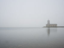 Normanton Church in fog Royalty Free Stock Photography