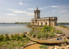 Normanton church on rutland water. Former church and now museum of normanton situated on the banks of rutland water in cambridgeshire royalty free stock photo