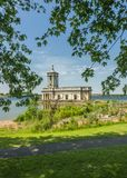 Normanton church on rutland water. Former church and now museum of normanton situated on the banks of rutland water in cambridgeshire royalty free stock images