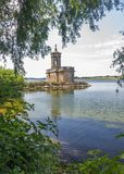 Normanton church on rutland water Royalty Free Stock Images