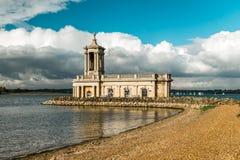 Normanton Church in Rutland Water Park, England. Rutland Water Park, England. Normanton Church which is Rutland`s most famous landmark. England, United Kingdom Royalty Free Stock Photo
