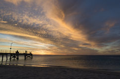 Normanville Jetty at Sunset Royalty Free Stock Photos