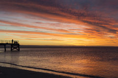 Normanville Jetty at Sunset Stock Photography