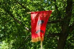 Norme, couleurs, drapeau, bannière d'une légion romaine Photo stock
