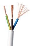Norme du CEI de câble de courant électrique au-dessus de blanc Photo stock