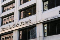 Norme et pauvrex à New York Image libre de droits