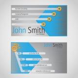 Norme moderne de carte de visite professionnelle de visite de vecteur 90 x 50 millimètres Images libres de droits