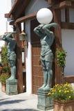 Norme ou courrier de lampe de statue à une entrée Image libre de droits