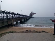 Norochcholai coal power plants in Sri Lanka royalty free stock image