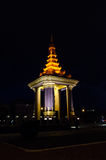 Norodom shihanouk king statue at night Royalty Free Stock Photo