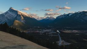 Norquay mountain view of Banff town. 4k stock video