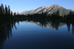 Norquay Reflection in the Bow Stock Photos