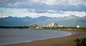 Norr Alaska för ankring för sommartidBootleggersliten vik Förenta staterna royaltyfria bilder