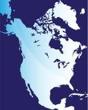 norr Amerika översikt Royaltyfri Fotografi